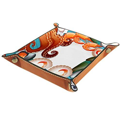 MUMIMI Anillo plato de joyería titular bandeja de baratija mejores regalos para las mujeres conjunto de mariscos frescos