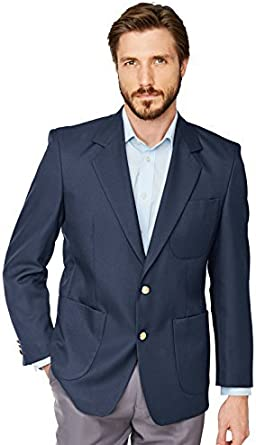 Mens Single Breasted Classic Oxford Regular Fit Blazer