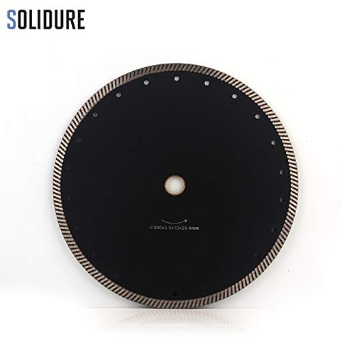 Stock-Home Abrasive Tools, 300mm 12 Inch Diamond Turbo Cutting Disc Diamond Saw Blade for Granite/Marble Tiles Ceramic Best Quality Diamond Cutting Disk - (Outer Dia: 300mm, Hole Dia: 22.23mm)