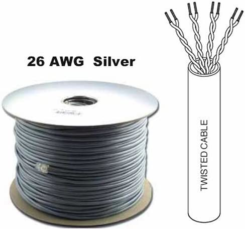 4 Twisted Pair All items free shipping 26 AWG Standed Silver Satin Data Cable New York Mall Phone