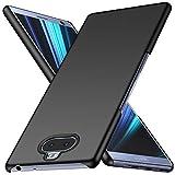 Arkour Sony Xperia 10 Hülle, Minimalistisch Ultradünne Leichte Slim Fit Handyhülle mit Glattes Matte Oberfläche Hard Case für Sony Xperia 10 (Glattes Schwarz)