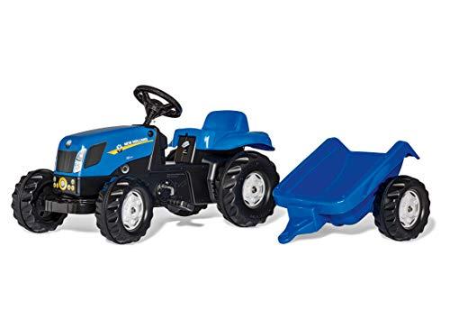 Rolly Toys rollyKid NH T7040 tractor met aanhanger (voor kinderen van 2,5 tot 5 jaar, achterkoppeling) 013074