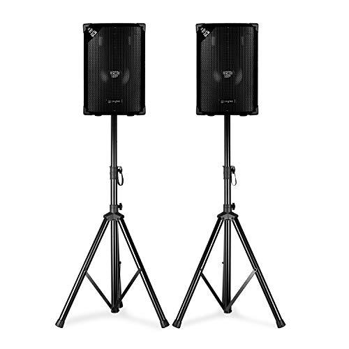 """Skytec SL8- Par de Altavoces Disco con trípode, 8"""" Woofer 200 W MAX, 2 trípodes y Bolsa"""