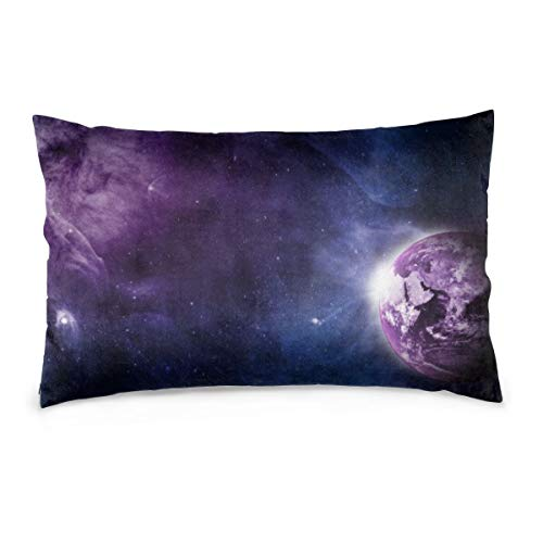 XIEXING Pillow Case Earth Printed Pillow Cases Soft Chair Seat Bedding Pillowcase Coffee Shop Home Decor 20'' X30