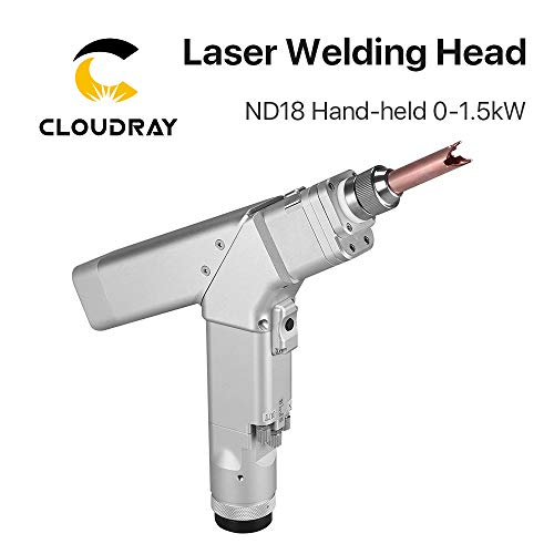 Gewicht: 1,36 kg Cloudray WSX ND18 0-1.5kw Hand-Laserschweißkopf, max. 1500 kW Laserleistung, 1500 W, mit QBH-Anschluss für Faserlaser-Schweißgerät