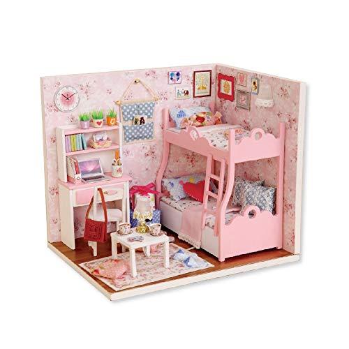 Casa de muñecas Segura y Duradera, casa de muñecas, para Regalo, niñas, niños, hogar