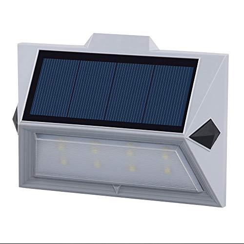 WHSS Luces de Pared Luz Solar Led Luz De Escalera Impermeable Al Aire Libre Césped Jardín Luz De Pared 3.6 Cm * 9.5 Cm * 16.0 Cm