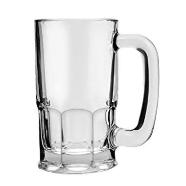 Anchor Hocking Wagon Glass Beer Mugs, 20 oz (set of 6)