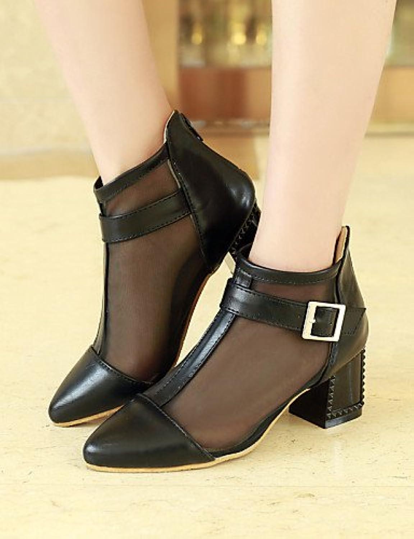 XZZ  Damenschuhe - High Heels - - - Büro   Kleid - Kunstleder - Stöckelabsatz - Absätze   Spitzschuh - Schwarz   Gelb   Rosa   Weiß  261a42