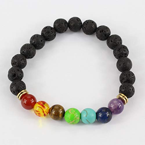 SHOUAQI Armband Heilung Perlen Armband Natürliche Lava Stein Perlen Armband Für Frauen Reiki Gebet Modeschmuck