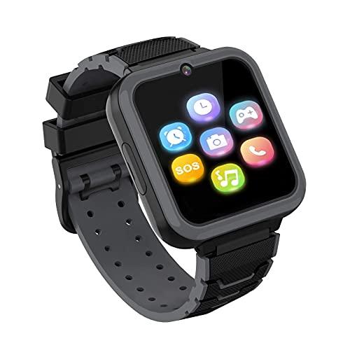 Smartwatch Kinder,Smart Watch Telefon für Kinder Mädchen und Jungen mit SOS Kamera Spiel Musik Player, Uhr Telefon Smartwatches für Alter 3-12 [1 GB Micro SD Enthalten] (SCHWARZ)