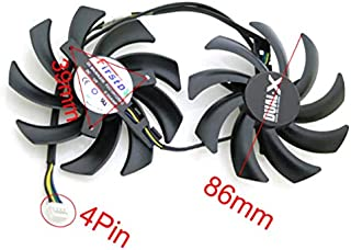 QHXCM 2pcs/Lot 86mm 39 * 39 * 39mm VFA Cooler Repalcement For XFX R9 380 280X 270X 290X Graphics Card Cooling Fan Cooler 4Pin