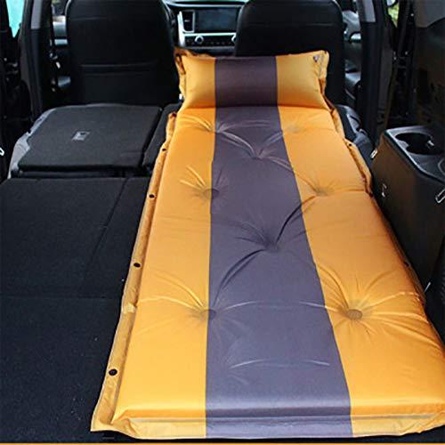 Esterilla Acampado Autoinflante, Coche Colchón De Aire SUV, Cojín para Dormir Prueba Agua Al Aire Libre con Almohada, para Tiendas Senderismo 180 × 60cm Yellow