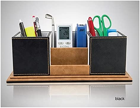 Today's only Max 64% OFF CESULIS High-Grade Wooden Leather Pen Pencil case tv Cute Holder