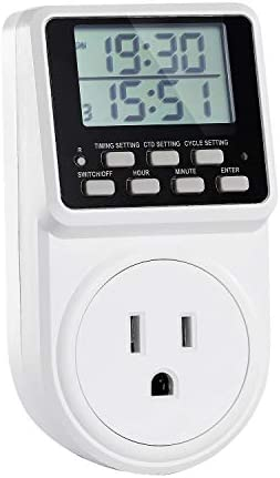 Digital Infinite Repeat Cycle Plug Timer Switch with Countdown and 24 Hour Programmalbe Timer product image