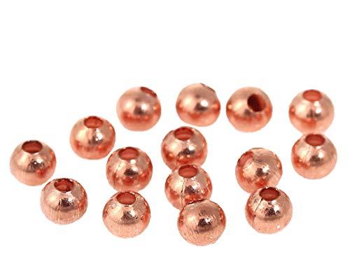 Sadingo metalen parels roségoud, tussenparels armband, kleine parels met gat, DIY sieraden zelf maken, 3 mm, 200 stuks