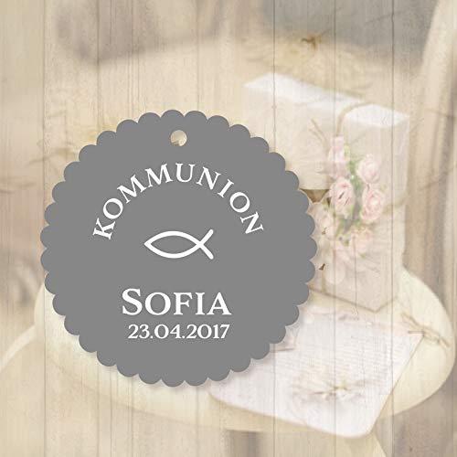 25 Geschenkanhänger Tags Etiketten Kommunion, Konfirmation, Taufe