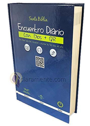 Diario Bíblico Impreso y Digital, Encuentro con Dios con QR, Reina-Valera Contemporánea, tapa dura a color