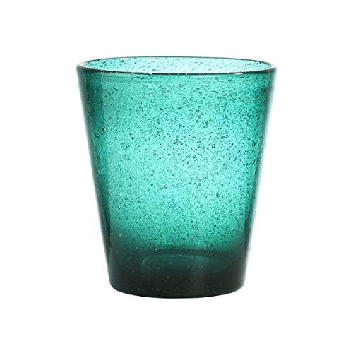 BUTLERS Water Colour Trinkglas 4er Set 290 ml in Türkis - Glas-Set für 4 Personen - Bunte Wassergläser, Saftgläser