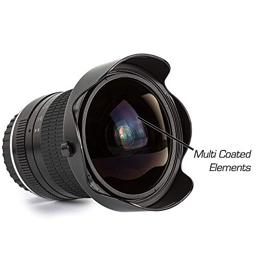 Ultimaxx 7mm f/3 HD Aspherical Fisheye Lens for Nikon D5, D4, D850, D810, D800, D750, D610, D600, D7500, D7200, D7100, D5600, D5500, D5300, D5200, D3400 & D3300 Digital SLR Camera
