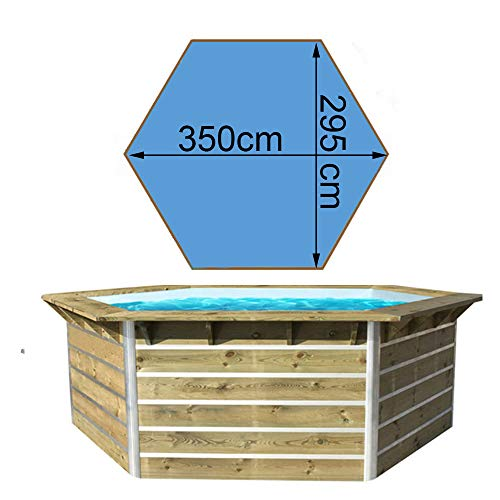 Waterclip - 20153 - Piscine en Bois 3,50 x 2,95 x 1,11 m cebu