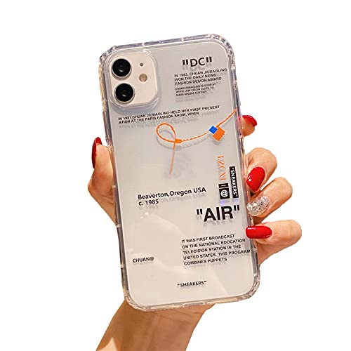 Hot Off Sports Shoes Brand Phone Case per iPhone 12 mini 11 X XS Max XR 7 8 6 6s Plus White Label Soft TPU Cover-1-per iPhone 11