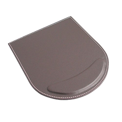 Almencla Komfort Mauspad Mouse Pad Matte Mausunterlage mit Handgelenkstütze Handgelenk Kissen Gegen Gelenkschmerzen - Kaffee