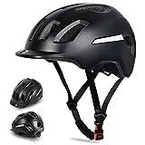 WESTGIRL Casco de bicicleta para hombres y mujeres, protección de seguridad, casco deportivo ligero ajustable con tira reflectante y forro desmontable, 58-62 cm