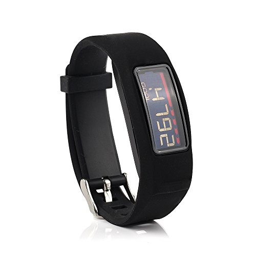 Fit-power Pulsera de repuesto con hebilla para Garmin Vivofit 2, Garmin Vivofit 2, Garmin Vivofit 2 Fitness Band (sin rastreador), color negro