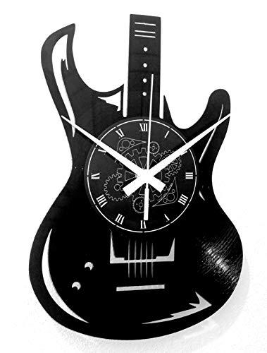 Instant Karma Clocks Orologio da Parete Disco in Vinile LP 33 Giri Guitar Basso Rock Metal Punk Chitarra Musica, Vintage, Handmade