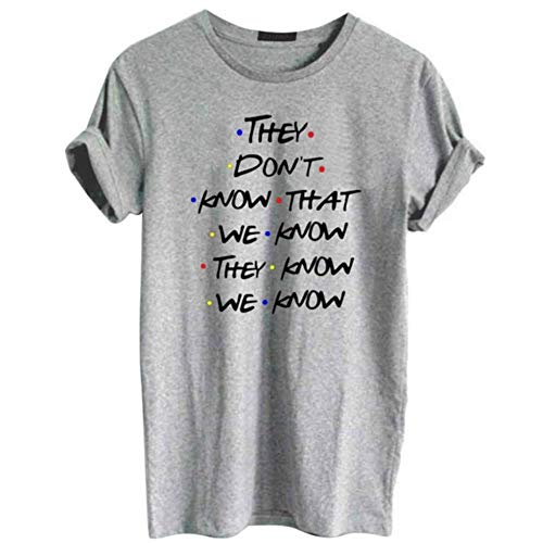 YANGPP Camiseta Friends Camiseta con Estampado deLetras Camiseta Friends Camiseta de Manga Corta para Mujer