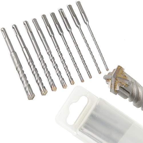 CPROSP SDS Plus Bohrer Set 9 Stk. Hammer Drill Set für Beton, Keramikfliesen, Stein, Holz, Ø 5,5,6,6,8,10,12,14,16 mm x 160 mm