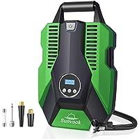 Sunvook Digital Tire Inflator Portable Air Compressor with Emergency Led Lighting