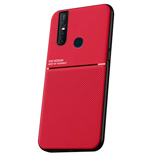 MOONCASE Vivo S1 (China) Funda, Carcasa de TPU Suave y a Prueba de Golpes Diseño único Antideslizante Funda para Vivo S1 (China) 6.53' - Rojo
