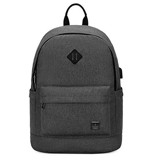 Small Laptop Backpack For Women Men Fit 15.6 in Notebook College School Student Black Bookbag for Teen Boy Girl Work Daypack Classical Cute Backpack Dark Grey
