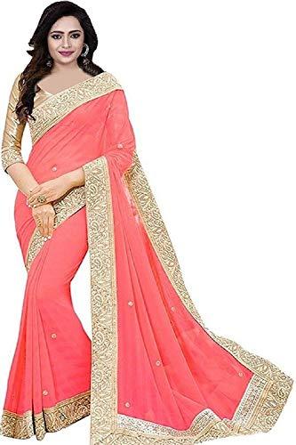 Effigy onlinehub Women's Chiffon Saree With Blouse Piece