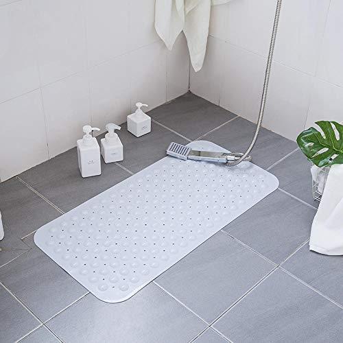 Waaiervormige douchematten, badmatten, badmatten, PVC, wasbaar in de machine, gemakkelijk schoon te maken, geschikt voor hoteltoilet 54x54cm-Wit B_40x80cm