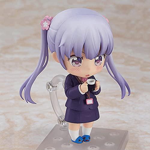 """Ruchoma figurka Nendoroid Suzukaze Aoba, figurka pochodzi z animacji """"NOWA GRA!"""" alias sos Sophia, postawa stojąca ma wysokość 3,9 cala, figura wykonana z materiału PVC, w tym podstawa"""