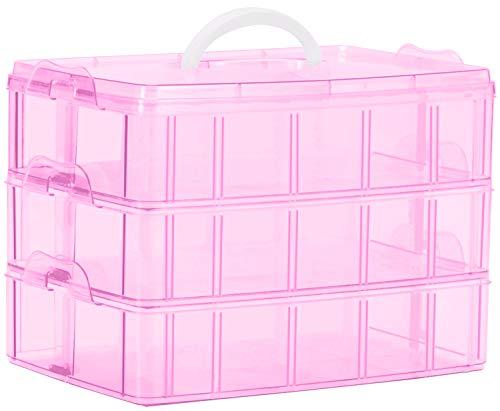 Sooyee Bead Organizer,3-Tier Craft Organizers and Storage,Stackable Storage...