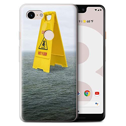Stuff4® beschermhoes/cover/behuizing/behuizing/gel/TPU/protetetiva bedrukt met motief voor Google Pixel 3 XL - vloerbedekking
