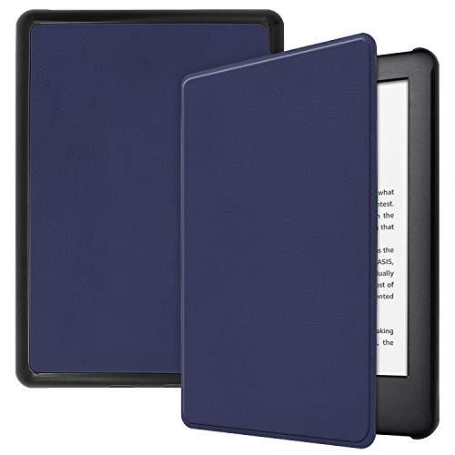 Case para Novo Kindle 10a. geração com iluminação embutida Função Liga/Desliga (Azul Marinho)