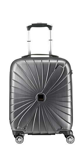 TITAN Hartschalen Koffer Triport im Propeller Design, 3 Trolley Größen Bagage cabine, 54 cm, 39 liters, Gris (Anthracite)