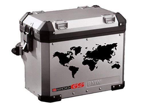 Pegatina Adhesivo Compatible con BMW GS R 1200 MAPAMUNDI Troquelado Kit 2 Unidades