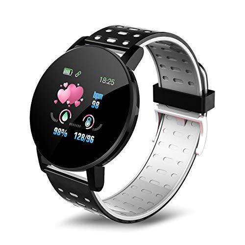 YNLRY Bluetooth Smart Watch Hombres Presión Arterial SmartWatch Mujeres Relojes Sport Whatsapp para Android iOS Smart Reloj (Color : Grey)