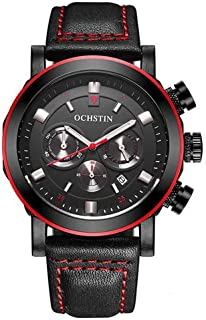 Ochstin Watch for Men, Chronograph, Leather, GQ064A-red