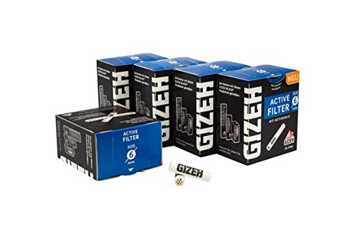 Gizeh ACTIV Filter Slim 5x34er Ø 6 mm - 170 Stk Aktivkohlefilter - Joint Tips - Schadstoffarmer Rauchen