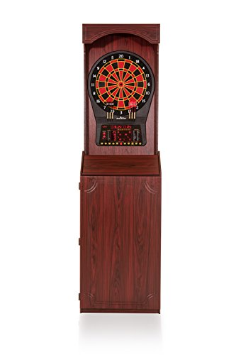 "Arachnid Cricket Pro 800 Standing Electronic Dartboard with Cherry Finish, Regulation 15.5"" Target Area, 8-Player Score Display and 39 Games"