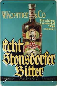 Echt Stonsdorfer Bitter Blechschild, 20 x 30 cm