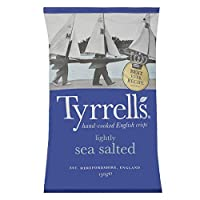 Tyrrells Hand Cooked English Crisps - Lightly Sea Salted (150g) Tyrrellsの手が英語ポテトチップスを調理 - 軽く海は塩漬け( 150グラム)