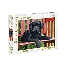 500ピース ジグソーパズル Clementoni 黒犬 The Black Dog 36×49cm 30346